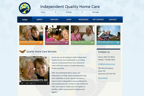 Independent Quality Home Care website