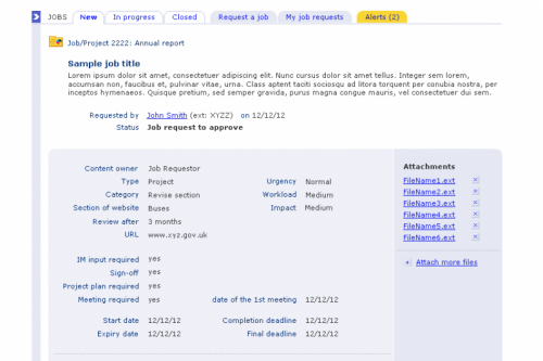 TfL GNM Job Booking System