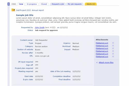 TfL GNM Job Booking System