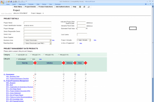 Project Management Checklist and Coordination Tool