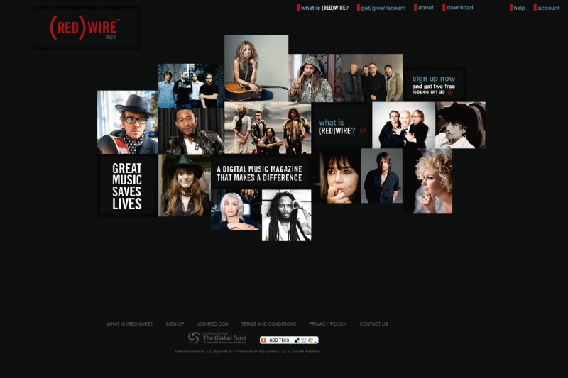 RED)WIRE Website and Music Player Migration | UltraWebsites.com ...