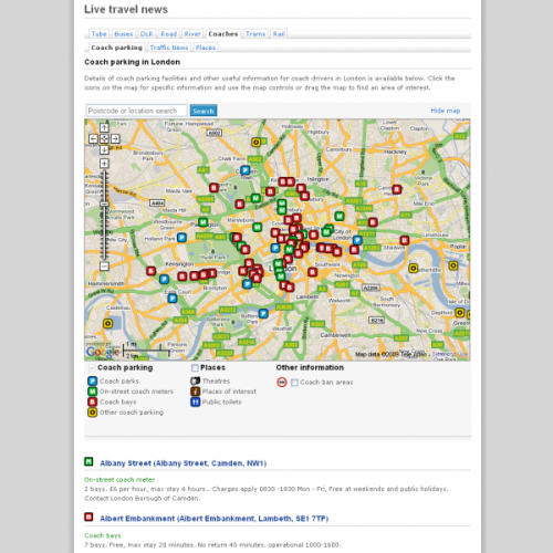 TfL Coach Parking Web Application