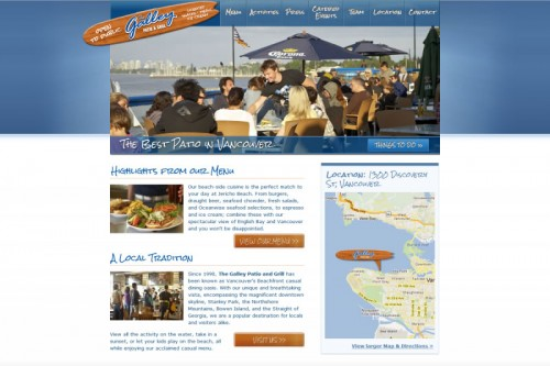 TheGalley.ca Patio and Grill restaurant, Vancouver, Canada